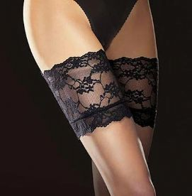 8 Den Black Hold-up Stockings, Fiore Finesse